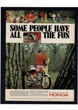 1966 Vintage HONDA Motorcycle Bike Woods Lovers Ad Print