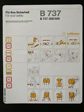 Lufthansa Boeing 737-300/500 Safety Card