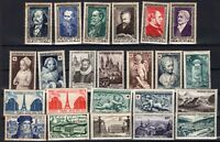 PP135498/ FRANCE – YEARS 1946 - 1952 MINT MNH SEMI MODERN LOT – CV 166 $