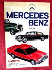 VINTAGE LARGE MERCEDES BENZ POSTER BOOK  BY MARCO RUIZ  24  FULL COLOUR POSTERS
