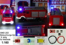 SMD LED beleuchtungsset 9-piezas kit anschlußmodul parpadea azul pista n c3238