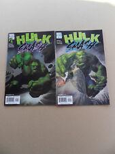 Hulk Smash 1 , 2 . Lot Complet . Marvel 2001 . VF