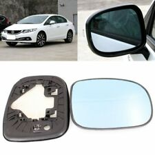 For Honda Civic 2004-2017 Side View Door Mirror Blue Glass With Base Heated