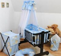 Baby Bedding Set Crib Cradle 6 Pieces Pillow Duvet Cover Bumper to FIT Crib 90x40CM Ladder Pink