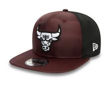 New Era Ripstop frente 9 Fifty Snapback Cap. Chicago Bulls. Granate