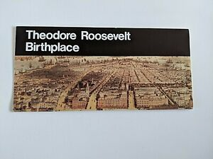 1980 THEODORE ROOSEVELT BIRTHPLACE NHS GUIDE BROCHURE, FIRST UNIGRID DESIGN