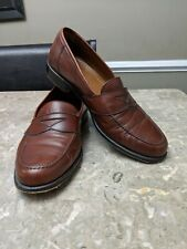 Magnanni Brown Leather Penny Loafers Dress Shoes Mens 9.5 M Casual