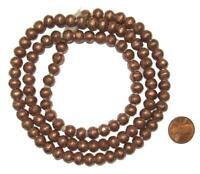 Round Copper Ethiopian Beads 8mm African Large Hole 32 Inch Strand Handmade