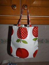 apple design oilcloth childs tote/peg bag BNWT