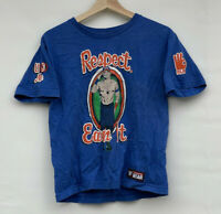 WWE John Cena Respect Earn It Never Give Up T-Shirt | Youth Large