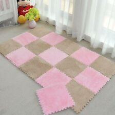 Long Fur Hair Puzzle Floor Mat Pad Baby Crawling Cutting Area Rug Play Carpet