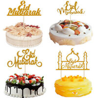 Eid Mubarak Wedding Cake Toppers Gold Glitter Hajj Mubarak DIY Cake Decor Topper