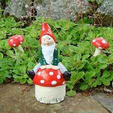 Garden Gnome ~ Quincy ~ Handmade by Pixieland (Concrete)