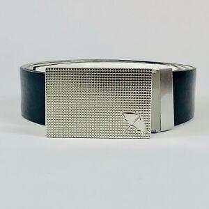 Arnold Palmer Dimple Reversible Golf Belt Mens Black White Leather 2 Sizes