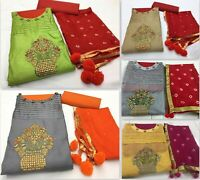 Kameez Salwar Suit unstitch Indian Pakistani Dress Designer Wear Party Shalwar J