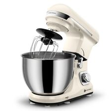 Ventray Stand Mixer 6-Speed 4.5-Quart Stainless Steel Bowl Pouring Shield -Beige