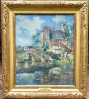 "COLIN CAMPBELL COOPER  LISTED ""CHATEAU CLISSON""  France Signed & Dated Oct 1901"