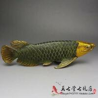 VINTAGE CHINESE BRONZE GILT OLD HANDWORK LUCKY FENGSHUI FISH STATUE