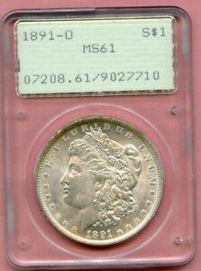 1891-O PCGS MS61 RATTLER HOLDER MORGAN DOLLAR!!!..369.99