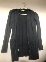 Ann Taylor Loft Gray Long Cardigan Sweater Size Xsmall Xs