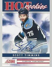 SCOTT TIMMINS 2011-12 Score Signatures HOT ROOKIE AUTO #512 Panthers RC