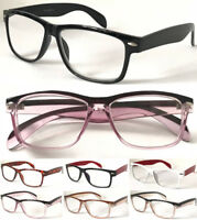 L142 Retro Spectacles Geek Nerd Large Stylish Wayfarer Trendy Reading Glasses