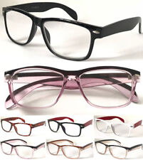 Retro Spectacles Geek Nerd Stylish Wayfarer Trendy Plastic Frame Reading Glasses