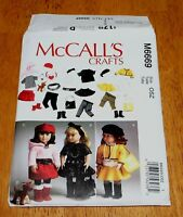 """Mc CALLS Pattern #6669 DOLL CLOTHES FASHIONS 18"""" dolls New 3 Complete Outfits"""