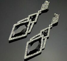 Rhinestone Drop/Dangle Stone Costume Earrings