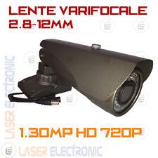 TELECAMERA DA ESTERNO PROFESSIONALE AHD 1.3MP 2.8-12MM CMOS SONY FULL HD 720P