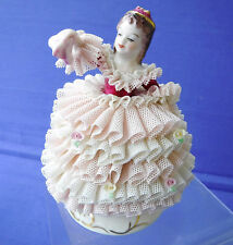 BEAUTIFUL Vintage MZ Irish Dresden ~Babette~  Lace Figurine