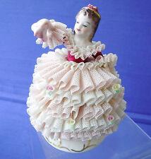 BELLISSIMO VINTAGE MZ irish Dresden ~ Babette ~ pizzo Figurina