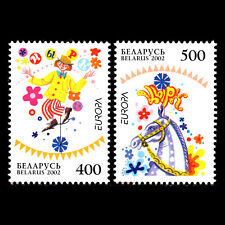 Belarus 2002 - EUROPA Stamps - The Circus - Sc 433/4 MNH
