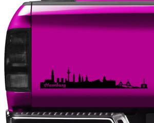 Aufkleber Hamburg Skyline viele Farben  11 Farben 2 Größen