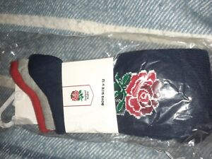 BOY/'S OFFICIAL ENGLAND CREST SOCKS 6 PAIRS 4-6.5 NEW RRP £17.97