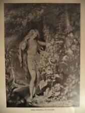 Antique Print Eve's Farewell to Paradise Milton Westall Earlom Typogravure 1892