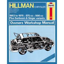Hillman Imp Haynes Manual 1963-76 875cc 998cc Petrol Workshop