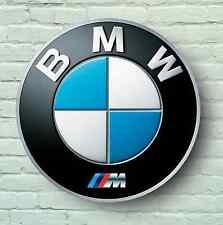 BMW M LOGO 0.6m GRANDE GARAGE STEMMA TARGA A MURO AUTO classico M3 E36 M5