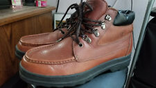 ^Laredo Performair Men Brown Rugged Leather Lace Ankle Boots Size 13 M Pre-Owned