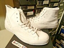 NEW Converse x Schott New York NYC White Leather Motorcycle Jacket Irving SZ 12
