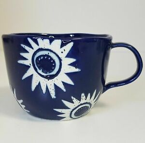 Anthropologie Indigo Blue Summer Solstice Coffee Mug Cup Cobalt NEW