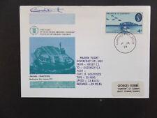 Maiden Flight Hovercraft VT1 Jersey to Guernsey Signed by Pilot B.Goldsmith