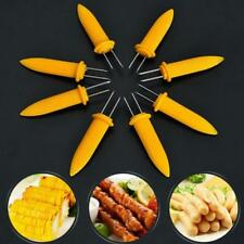 10X Safe Corn on the Cob Holders Skewers Needle Prongs Fork Picks Kitchen BBQ -S
