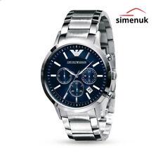 Reloj Pulsera emporio Armani AR2448 Hombre De Acero Inoxidable Esfera Azul Cronógrafo