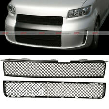 Front Upper Lower Honeycomb ABS Black Hood Grille Grill fits for 08-10 Scion xB