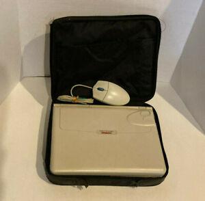 Compaq LTE Elite 4/75CX Vintage Gaming Laptop for Parts or Repair w/ Mouse, Case