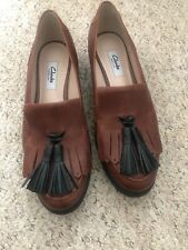 Clarks Womens Black Flat Loafer Shoes - Size 5.5Dv