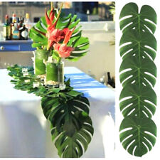 12PCS Tropical Hawaiian Big Green Leaves Luau Party Flower Table Ornaments Decor