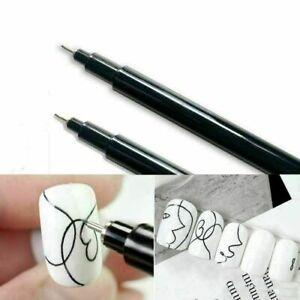 Nail Art Pen Polish Painting Drawing Pencil UV Gel DIY Design Manicure Tool AU
