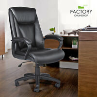 Executive High Back Leather Office Chair Swivel Computer Task Desk Boss Seat